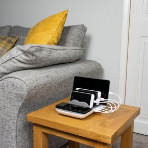 Multi Device Charging Station | Wireless Charging + 4 USB Ports | Fast Charge Technology