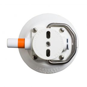 4.5 Inch Vacuum Mount with Stainless Handle - White